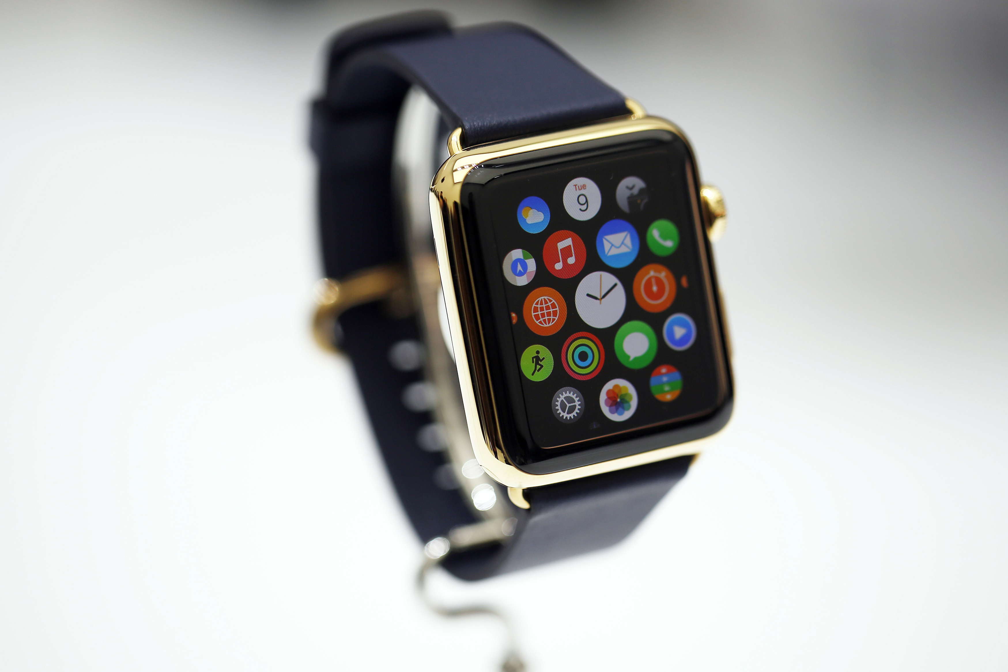 New Apple Watch is seen during an Apple event at the Flint Center in Cupertino